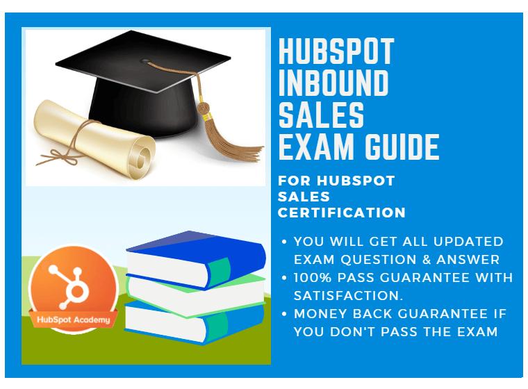HubSpot Inbound Sales Exam Answer 2018 for HubSpot Inbound Sales ...