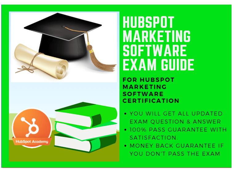 Hubspot Marketing Software Exam Answer 2018 For Hubspot Marketing